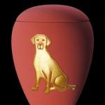 "Keramik samt rot ""Motiv Hund"" 65-1500-405 - 1,5 ltr. - 80,00 Euro 65-2800-405 - 2,8 ltr. - 98,00 Euro"