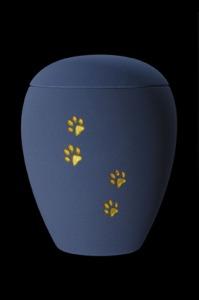 """Keramik samt blau """"Pfotenmotiv"""" 65-500-207 - 0,5 ltr. - 75,00 Euro 65-1500-207 - 1,5 ltr. - 80,00 Euro 65-2800-207 - 2,8 ltr. - 98,00 Euro"""