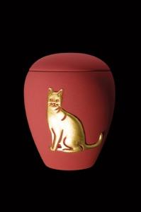 "Keramik samt rot ""Motiv Katze"" 65-500-406 - 0,5 ltr. - 60,00 Euro"